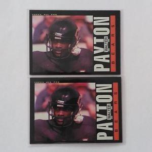 1985 Topps Walter Payton 2 Card LOT